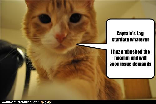 ambushed captains-log demands human issue log SOON stardate whatever - 5986929152