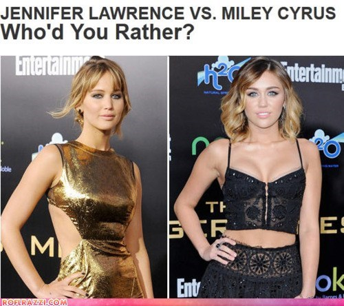 actor celeb funny jennifer lawrence miley cyrus - 5986956800