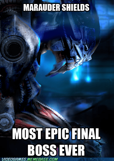boss battle marauder shields mass effect meme spoilers