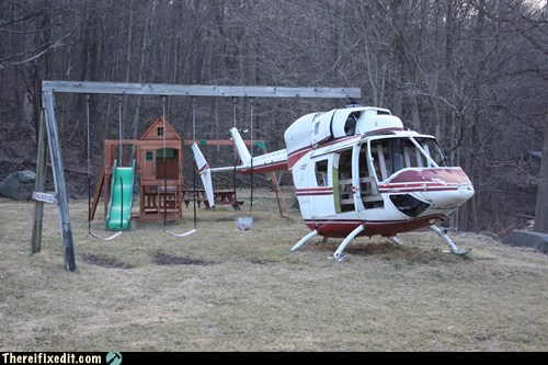 helicopter playground swing swingset