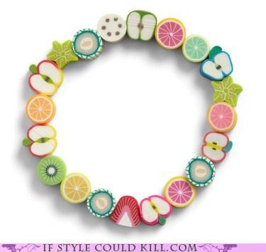 bracelets,cool accessories,food,fruit