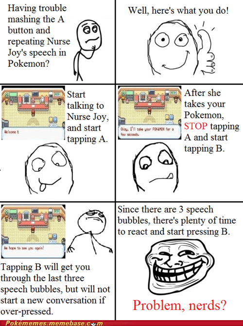 mash B,nurse joy,pokemon center,rage comic,Rage Comics,troll