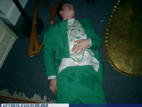 accident diaper leprechaun passed out pee St Patrick's Day whoops - 5987945984