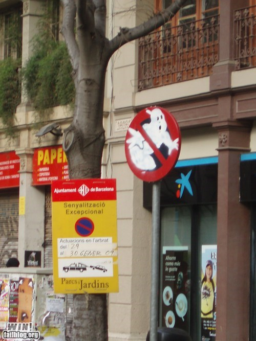 80s Ghostbusters hacked irl Movie nerdgasm sign - 5989048832