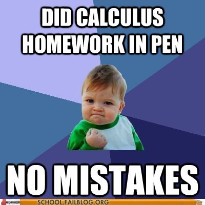 calculus calculus in pen math homework no mistakes - 5989152512