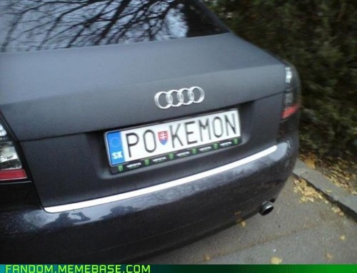 car,It Came From the Interwebz,license plate,Pokémon