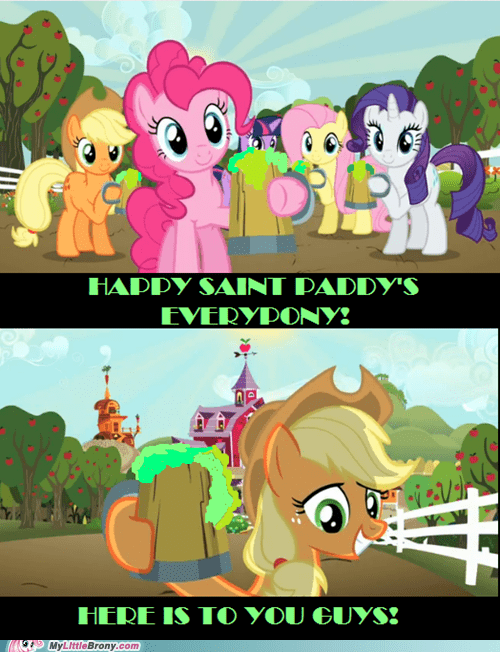 applejack green Party pinkie pie St Patrick's Day - 5990021888