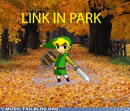 link in park,linkin park,pun,the legend of zelda,zelda