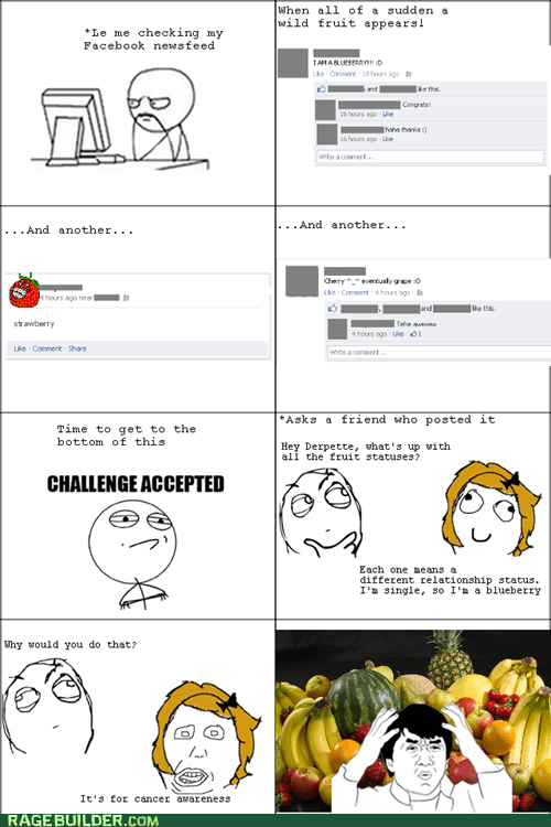 awareness cancer facebook fruits Rage Comics wtf - 5991144960