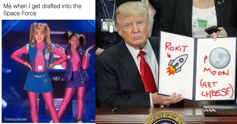 Trump memes about Donald Trump's space force for the military