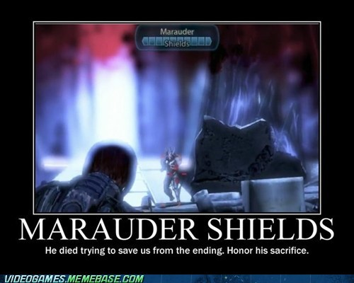 boss battle mass effect maurader shields meme never forget