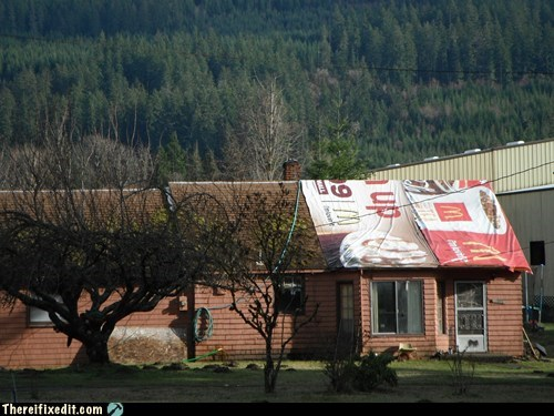 dollar menu,McDonald's,roofing