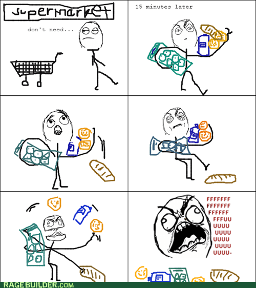 cart,fu guy,Rage Comics,shopping