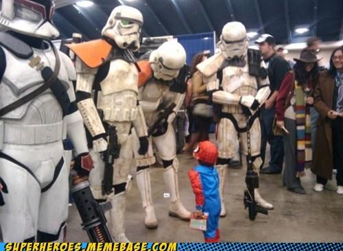 costume cute Spider-Man stormtrooper Super Costume - 5991877632