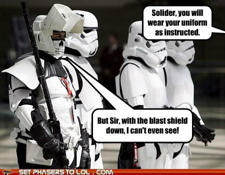 blind cant-see commander protection star wars stormtrooper uniform - 5991945728