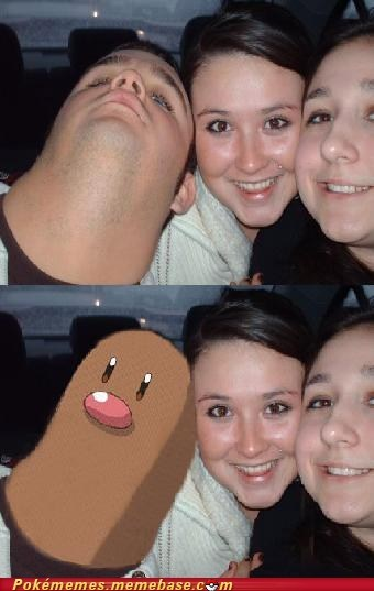 diglett,diglett wednesday,Memes,photobomb,scary,thumb