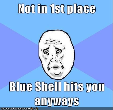blue shell Mario Kart Okay video games - 5994396416