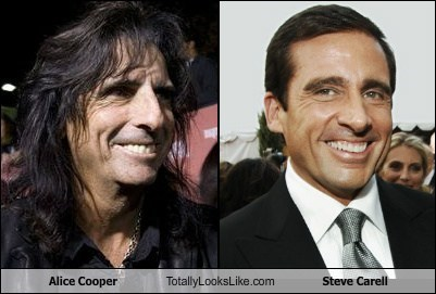 actor,alice cooper,celeb,funny,Hall of Fame,Music,steve carell,TLL