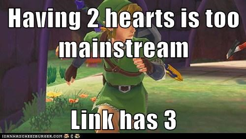 hearts hipster legend of zelda link mainstream the doctor
