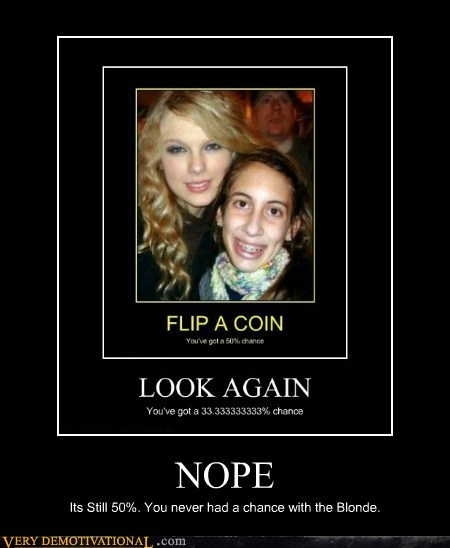 chance,flip a coin,guy,hilarious,taylor swift