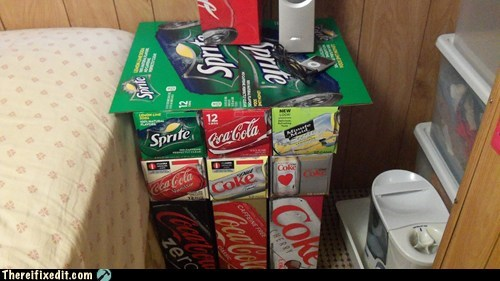 caffeine coke minute maid nightstand sprite
