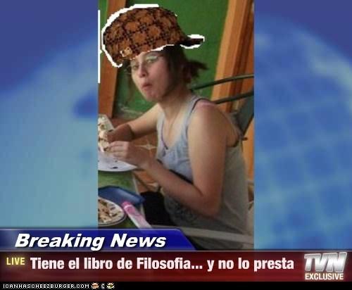 Breaking News - Tiene el libro de Filosofia... y no lo presta