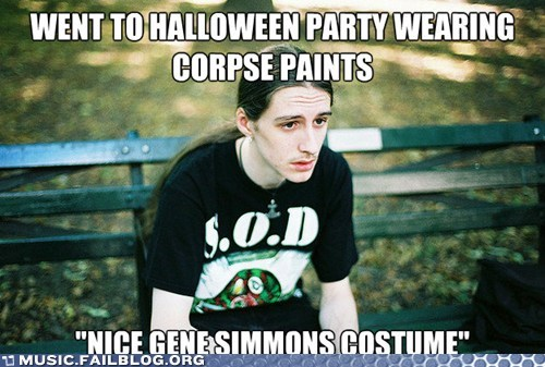 corpse paint,first world metal problem,Gene Simmons,halloween costume