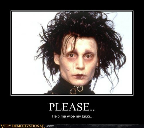 Edward Scissorhands help hilarious please - 5997202688