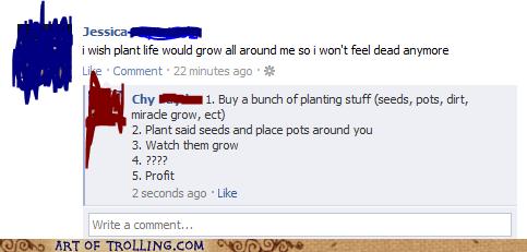 dead,facebook,plants,profit