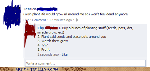 dead facebook plants profit - 5997573632