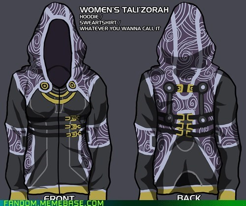 Fan Art,hoodie,mass effect,tali,video games