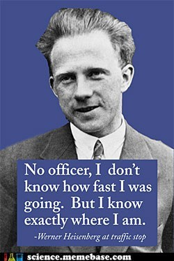 Professors,speed limit,uncertainty principle,werner heisenberg