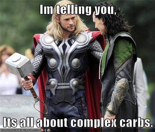 advice carbs chris hemsworth complex diet loki mjolnir muscles Thor tom hiddleston