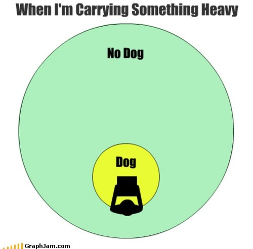 annoying carrying dogs venn diagram