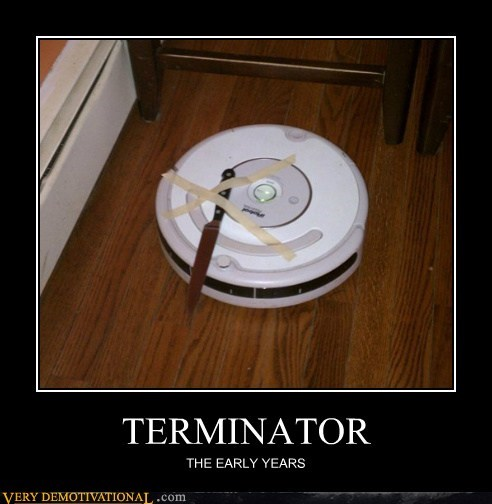 early hilarious knife roomba terminator - 5998564864