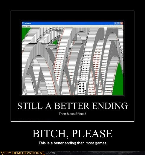 ending hilarious mass effect 3 solitaire