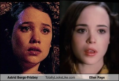 actor,astrid bergs-frisbey,celeb,ellen page,funny,TLL