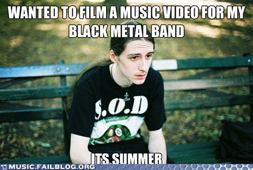black metal,first world metal problems,metal,music video,weather,winter