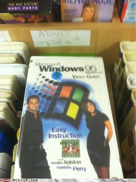 friends jennifer aniston matthew perry tapes vhs tape video guide Windows 95 - 5999625472