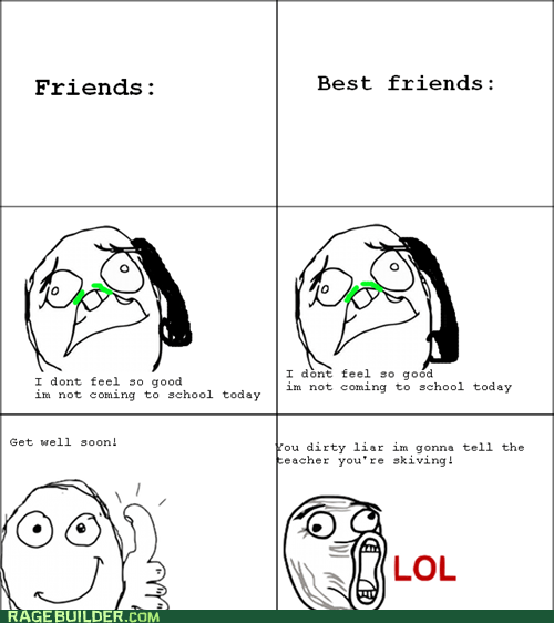 friends get well soon lol face Rage Comics sick