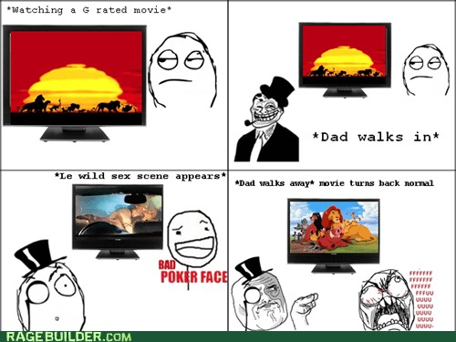 Awkward,bad poker face,dad,fu guy,movies,Rage Comics