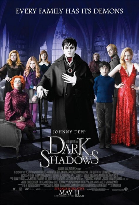 dark shadows,Johnny Depp,movie poster,movies,tim burton