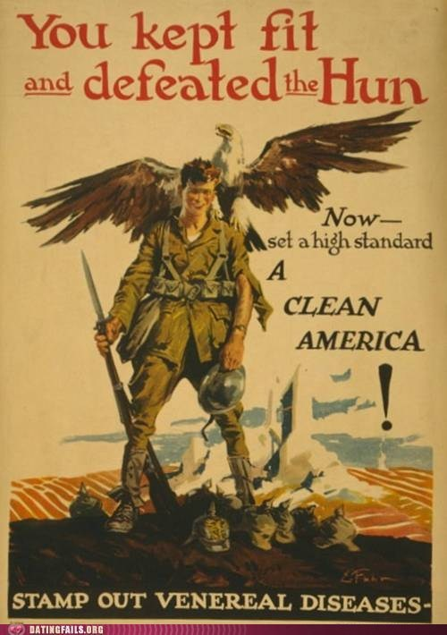 clean america no fun propaganda VD war - 5999809024