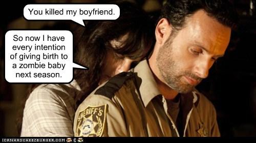 Andrew Lincoln baby lori grimes Rick Grimes sarah wayne callies The Walking Dead zombie - 5999840000