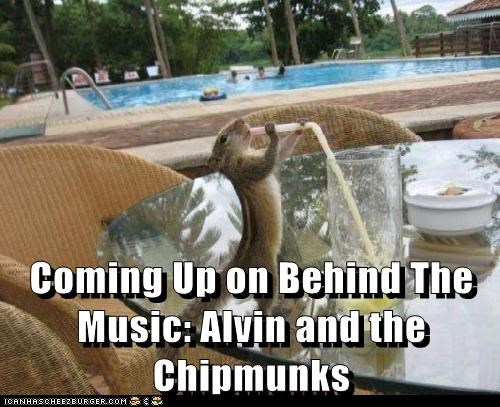 alcohol,alvin and the chipmunks,behind the music,booze,chipmunk,drink,drunk,Music,pool