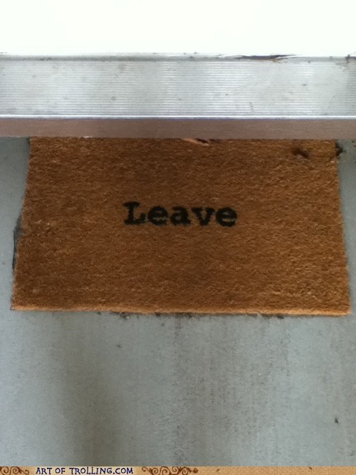 door mat,IRL,leave,welcome mat
