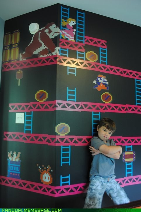 cute donkey kong Fan Art kids mario video games wall - 6000002304
