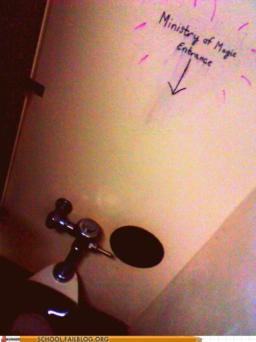 Harry Potter ministry of magic toilet humor