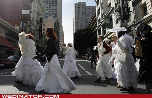 brides funny wedding photos march san francisco
