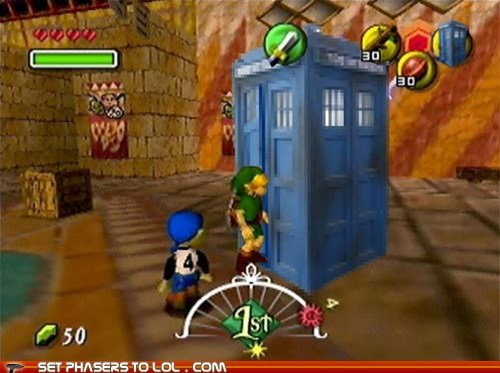 doctor who legend of zelda link majoras mask tardis time travel video games zelda